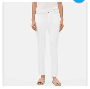 Eileen Fisher 20W White Slim ORGANIC COTTON Jean
